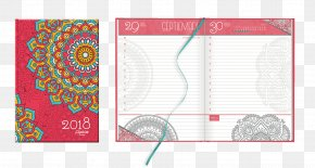 Notebook - Paper Diary Notebook Mandala Agenda PNG