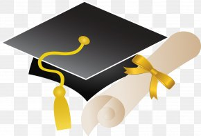 Black Doctor Cap - Graduation Ceremony Square Academic Cap Clip Art PNG