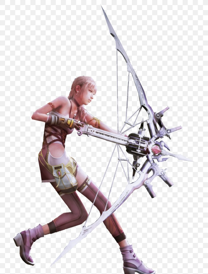 Final Fantasy XIII-2 Lightning Returns: Final Fantasy XIII Dissidia Final Fantasy, PNG, 738x1083px, Final Fantasy Xiii2, Action Figure, Bow And Arrow, Bowyer, Cold Weapon Download Free