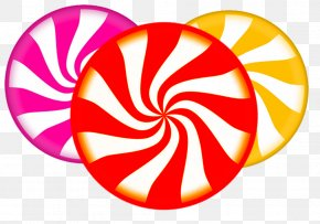 Circular Swirling Candy - Lollipop Candy Cane Clip Art PNG