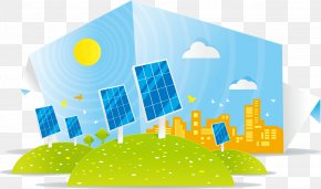 Decorative Solar Energy Panels - Solar Energy Solar Panel Illustration PNG