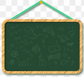 Green Chalkboard - Blackboard Download Icon PNG