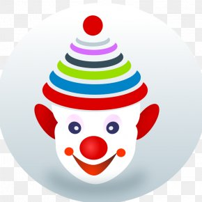 Cartoon Clown Face - Joker Clown Circus Clip Art PNG