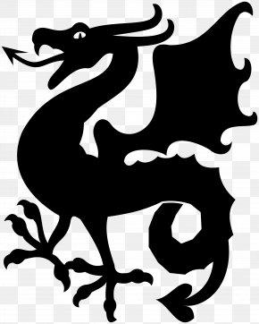 Dragon Clip Art Silhouette - Clip Art Vector Graphics Silhouette Dragon PNG