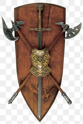 Shield And Ax - Weapon Icon PNG