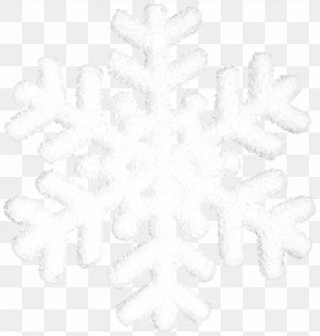 Snowflake Transparent Clip Art - Black And White Snowflake Tree Pattern PNG