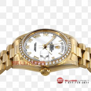 Gold - Colored Gold Rolex Day-Date Watch Strap PNG