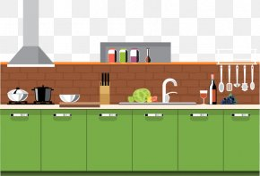 Vector Kitchen - Table Kitchen Interior Design Services Furniture PNG