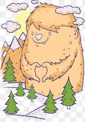 Mountain Man Fur Pattern - Printed T-shirt Top Clothing Sleeve PNG