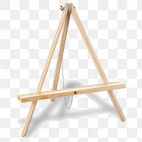 Wooden Table Top - Easel Art Painting Table Drawing PNG