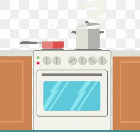 Vector Kitchen Stove - KitchenAid Oven Frying Pan Home Appliance PNG