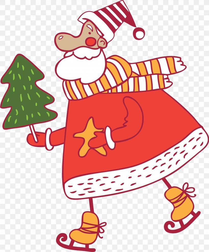 Santa Claus Christmas Decoration Christmas Ornament Clip Art, PNG, 3520x4247px, Santa Claus, Area, Art, Artwork, Character Download Free