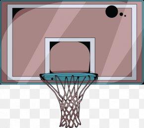 Brown Fresh Basketball Rack Decoration Pattern - Cartoon Basketball Basketball Court Backboard PNG