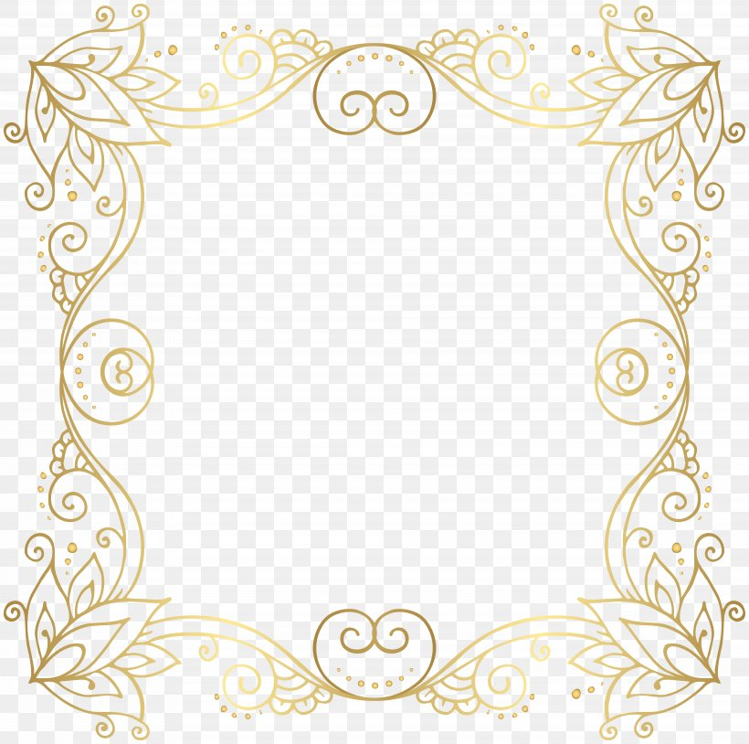 Gold Clip Art, PNG, 8000x7942px, Gold, Area, Border, Gold Frame, Kilobit Per Second Download Free