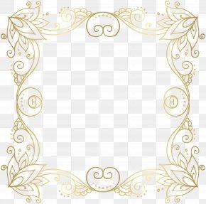 Gold Border Frame Clip Art Image - Gold Clip Art PNG