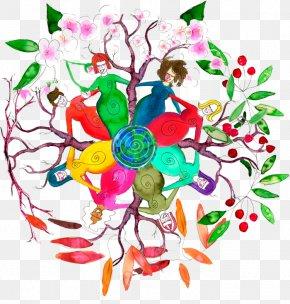 Dancing Circle - Floral Design Clip Art Women Woman Clip Art PNG