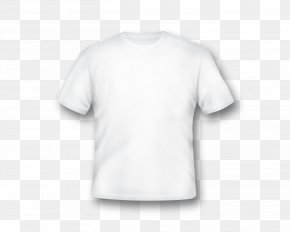 Blank White T-Shirt Template - Printed T-shirt Sleeve Clothing PNG