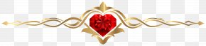 Heart For Decoration PNG Clip Art Image - Valentine's Day Clip Art PNG