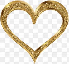 Gold Heart Clip Art Image - Heart Gold Clip Art PNG