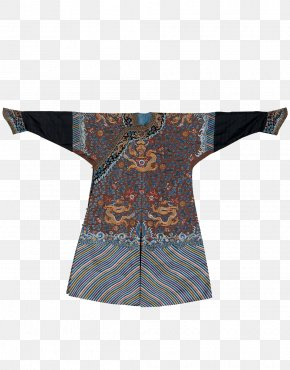 Qing Dynasty Dragon Dress - Qing Dynasty Manchu People Sleeve Eight Banners Clothing PNG