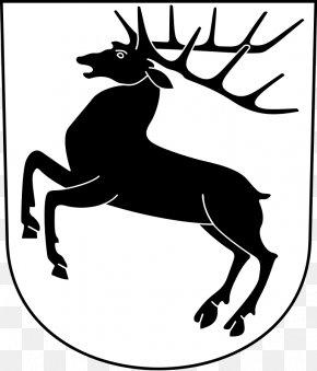 Coat Of Arms Clipart - Red Deer Reindeer Moose White-tailed Deer PNG