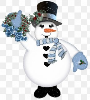 Waving Snowman - New Year's Day New Year's Eve Christmas Greeting & Note Cards PNG