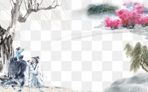 Landscape Painting Free Download - China Qingming Festival Yushui PNG