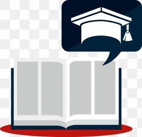 Books And Hats Vector - Graduation Ceremony Clip Art PNG