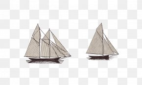 Vector Material Sailing - Scow Sailing Ship Euclidean Vector PNG