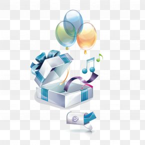 Vector Gift Boxes And Balloons - Free Content 3D Computer Graphics Clip Art PNG