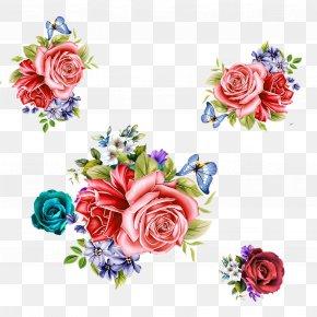 Red Roses Float - Garden Roses Beach Rose Pink Flower PNG