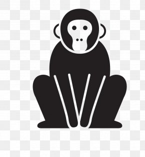 Macaco - Silhouette Monkey Image Vector Graphics Gorilla PNG