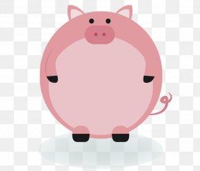 Cute Pink Pig Creative Border Border - Domestic Pig Animal Label Clip Art PNG