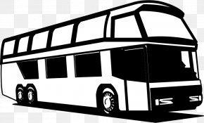 Silhouette Bus Vector - Tour Bus Service School Bus Download PNG