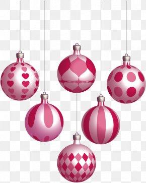 Vector Pink Decoration Balls - Christmas Ornament Ball Clip Art PNG