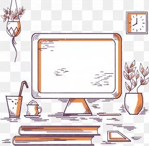 Desktop Computer Desk - Desktop Computer Download PNG
