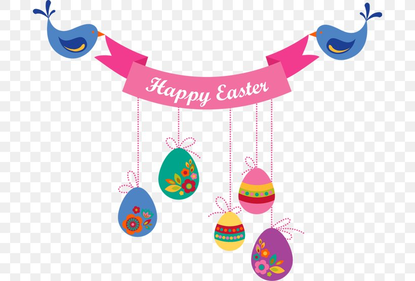 Easter Bunny Banner Clip Art, PNG, 690x555px, Easter Bunny, Banner, Divine Mercy Sunday, Easter, Easter Egg Download Free