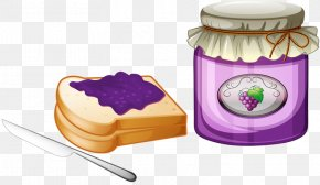 Grapes Toast - Jam Sandwich Gelatin Dessert Fruit Preserves Royalty-free Clip Art PNG