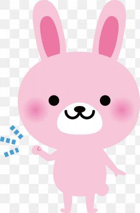 Pink Cartoon Bunny - Rabbit Gratis Photography Fist Pump Illustration PNG