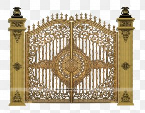 Golden Door Pattern - Aluminium Alloy Copper Balcony PNG