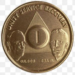 Sober - Sobriety Coin Medal Alcoholics Anonymous PNG