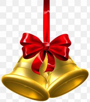 Gold Christmas Bells Clip Art Image - Christmas Jingle Bell Clip Art PNG