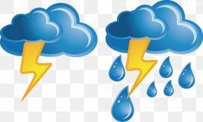 Vector Painted Weather - Weather Cloud Lightning Icon PNG