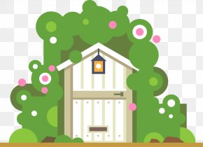 Cabin - Garden House Illustration PNG