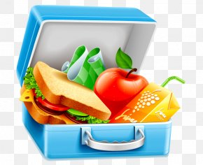 Healthy Cliparts - Lunchbox Clip Art PNG
