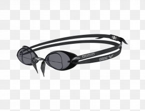 Swimming Goggles - Arena Swedix Goggle Black Frame/Smoke Lens Goggles Swimming PNG