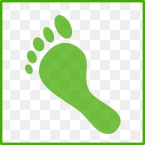 Footstep Clipart - Green Carbon Footprint Ecological Footprint Clip Art PNG