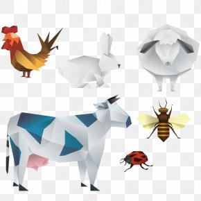 Geometry Farm Animals - Farm Illustration PNG