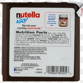 Sugar - Pretzel Chocolate Spread Nutella Nutrition Facts Label Food PNG