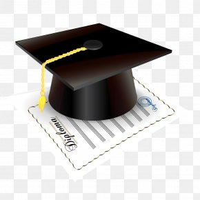 Graduation - Square Academic Cap Graduation Ceremony Diploma Clip Art PNG